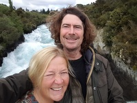 Selfie made at Huka - Huka Falls Taupo North New Zealand-