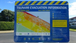 Tsumani Warning - Papamoa Beach Tauranga Region North New Zealand