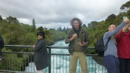 Water all over - Huka Falls Taupo North New Zealand
