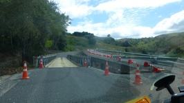 Earthquake damage Road - Alpine Pacific Triangle New Zealand