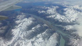 First view - Southern alpes on New Zealand