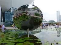 Flowers in mirror - Artscience Museum Marina Bay Singapore