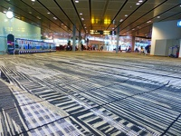Stripy carpet - Changi Airport Singapore