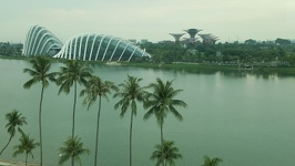 View from Singapore Flyer - Gardens by the bay Singapore