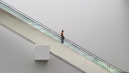 stairway to shops - Marina Bay Shopping Center Singapore