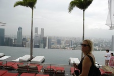 Hil at poolside - Marina Bay Sands Hotel, Singapore