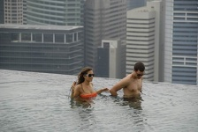 Pool walking - Marina Bay Sands Hotel, Singapore