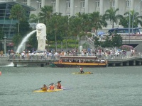 The National Icon - Lion with fishbody at Marina Bay, Singapore