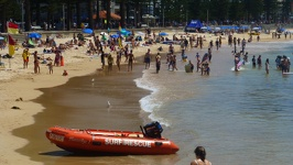 Crowded beach - Manly Beach Sydney New South Wales Australia