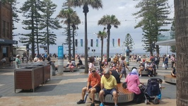 Scene at the Corso - Manly Beach Sydney New South Wales Australia