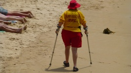 Surf Rescue Granny - Manly Beach Sydney New South Wales Australia