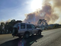 Controlled bush fire - road to Denmark Western Australia