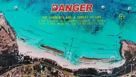 Danger sign - West Beach Esperance Southwest Australia